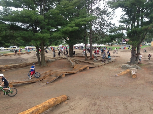 Grand Opening at the Constrution Yard - Kids and Bikes Everywhere!